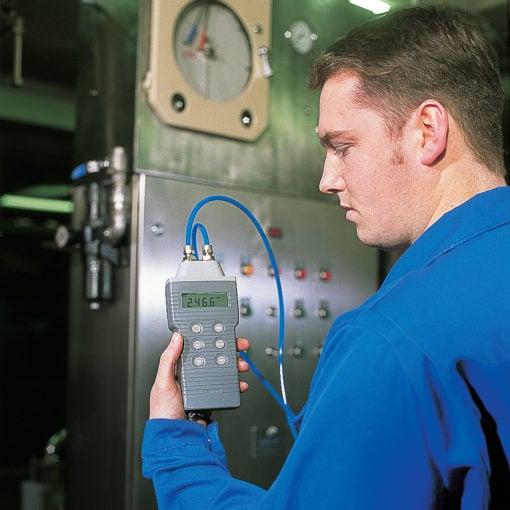Pressure Meter in Operation