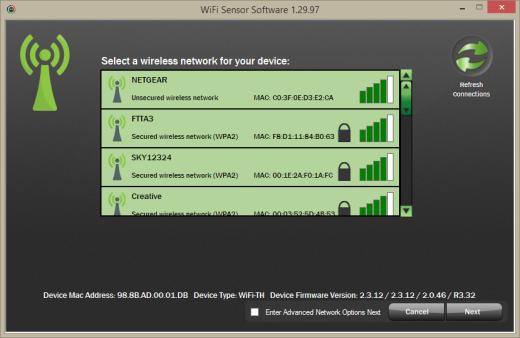 WiFi Temperature Data Logger with Thermocouple Probe