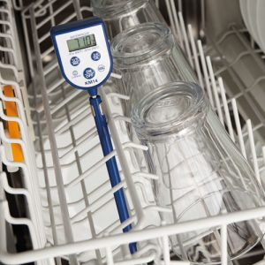 How to check commercial dishwasher temperatures