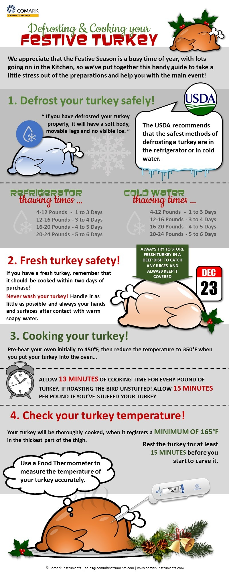 Defrosting and Cooking a Christmas Turkey