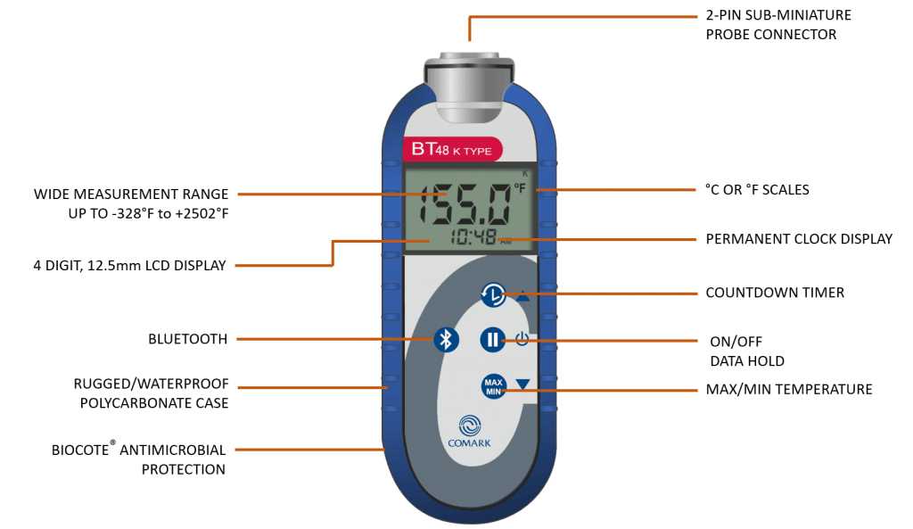 BT48 Bluetooth Food Thermometer