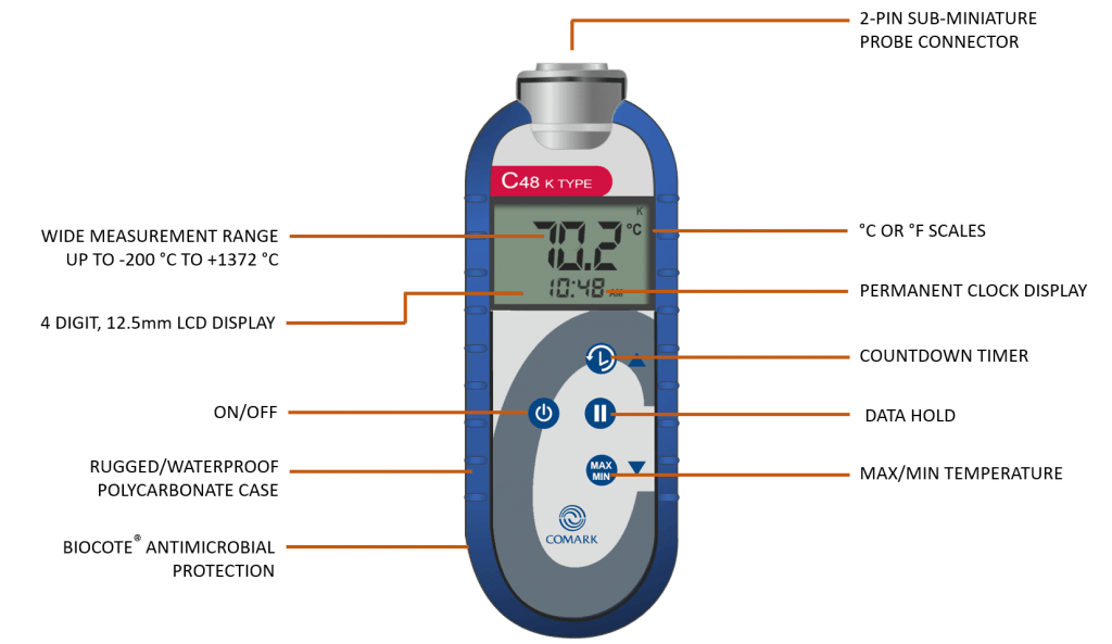 C48C Industrial Thermometer