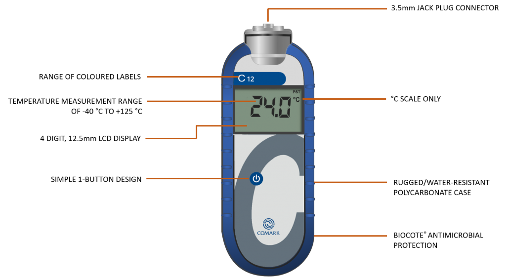 C12 HACCP Food Thermometer Diagram